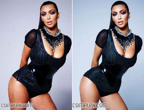 celebrities before and after photoshop, Kim Kardashian