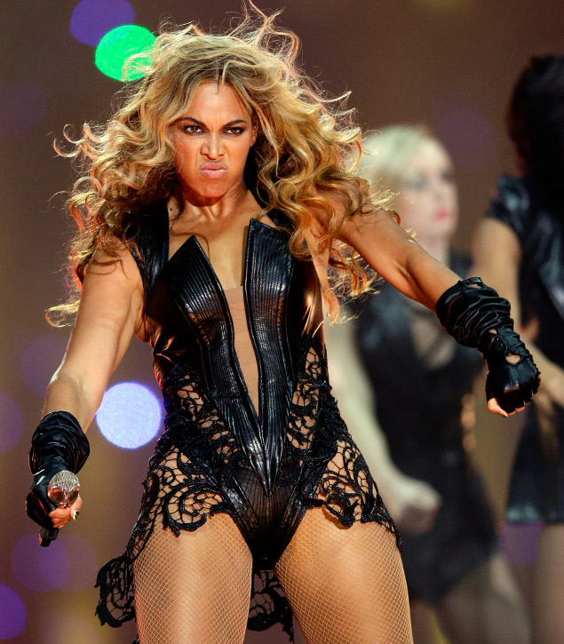 Beyonce performs during the Pepsi Super Bowl XLVII Halftime Show