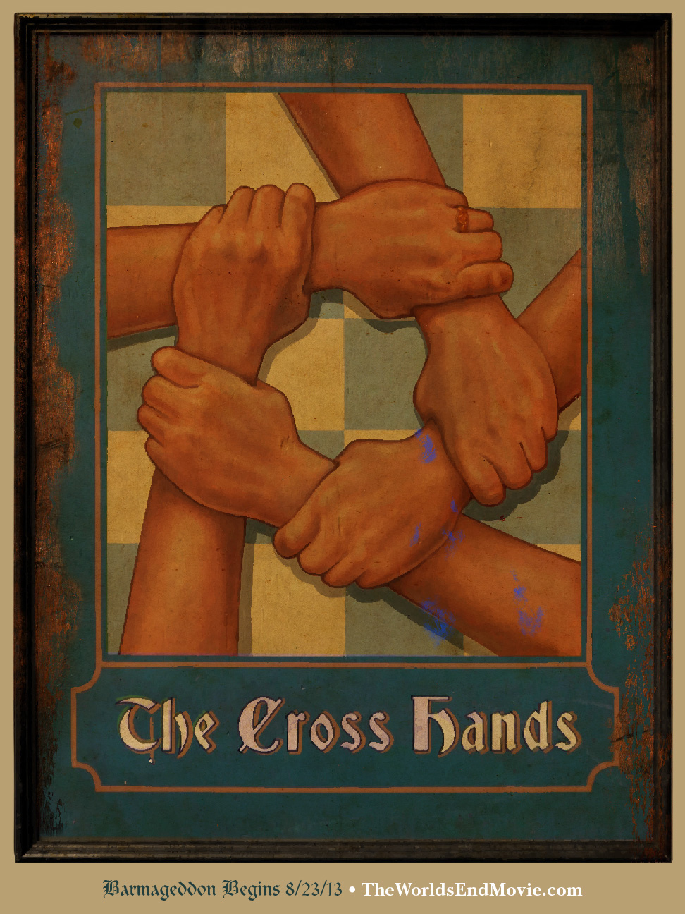 The Worlds End The Cross Hands Bar Sign