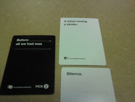 20 Truly Horrible Cards Against Humanity Submissions