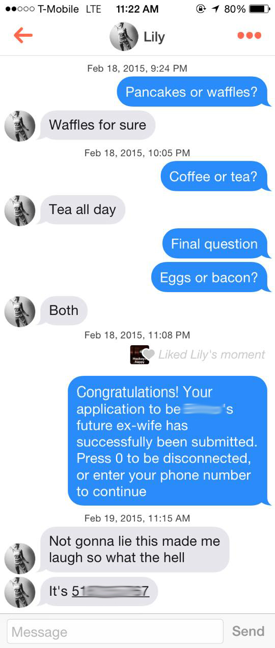 a tinder pickup line that works every time mandatory