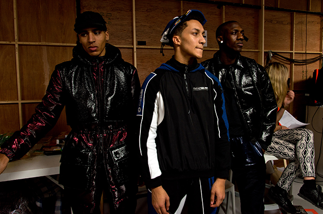Nasir Mazhar: Backstage - London Collections: Men AW15