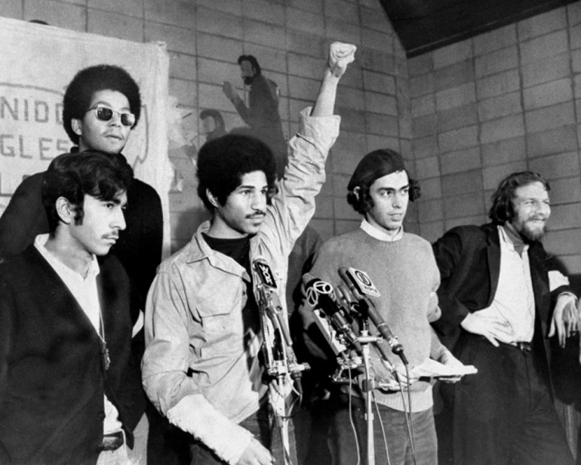 Young Lords at press conference 2 Photo by Anthony Pescatore