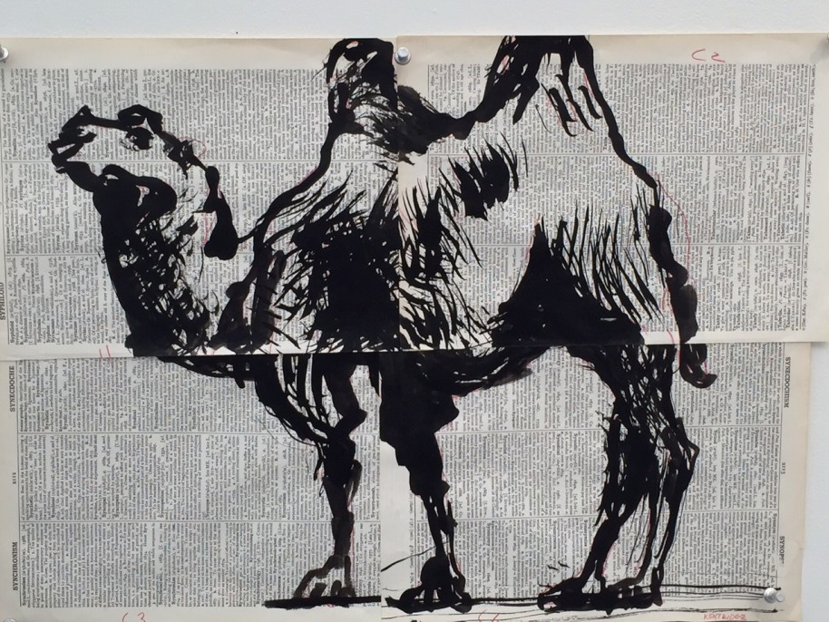 "William Kentridge, Drawings for ""Lulu"", 2012-2015, mixed media on paper"