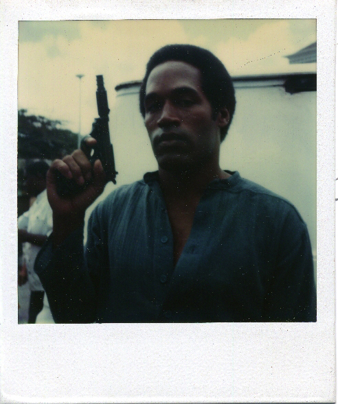 "OJ Simpson on the set of ""Firepower."""