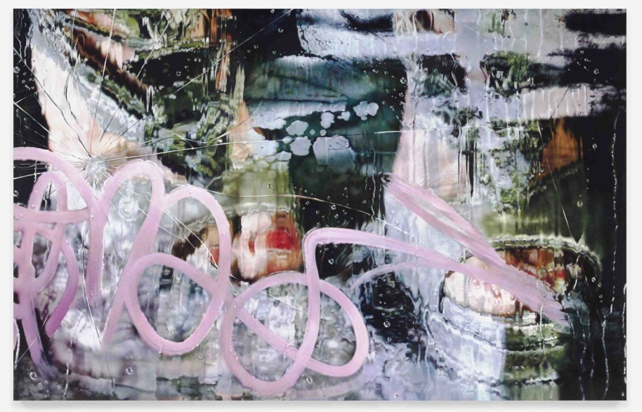 Marilyn Minter Not in These Shoes, 2013 Enamel on metal 108 x 162 inches Courtesy of the artist, Regen Projects Los Angeles and Salon 94 New York