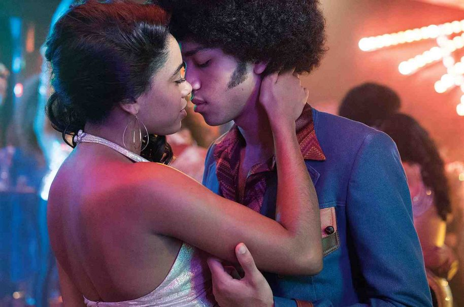 Guardiola as Mylene Cruz and Justice Smith as Ezekiel. Myles Aronowitz/Netflix