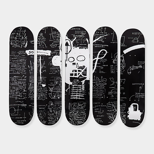 Jean-Michael Basquiat: Skateboard Demon, courtesy of the Museum of Modern Art