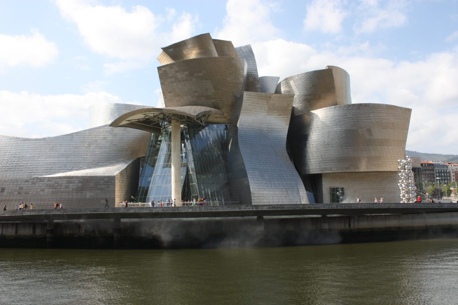 Frank Gehry is widely known for the Guggenheim Museum in Bilbao, Spain. Photo courtesy of Guggenheim Museum.