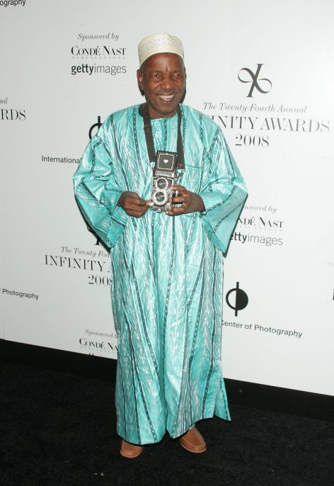 NEW YORK - MAY 12: Photographer Malick Sidibe arrives at the 24th Annual Infinity Awards at Pier Sixty, Chelsea Piers on May 12, 2008 in New York City. (Photo by Jim Spellman/WireImage)
