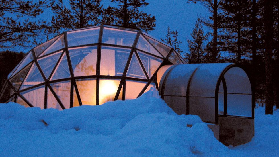 Hotel Kakslauttanen has thermal glass igloos that prevent frost and offer a unique sky view. Photo courtesy of Hotel Kakslauttanen and Igloo Village.