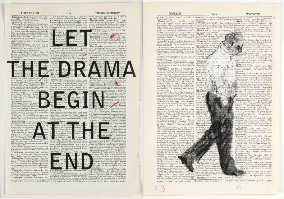 William Kentridge, Second Hand Reading, 2013, Flipbook film from drawings on single pages of the Shorter Oxford English Dictionary, HD video, colour, sound