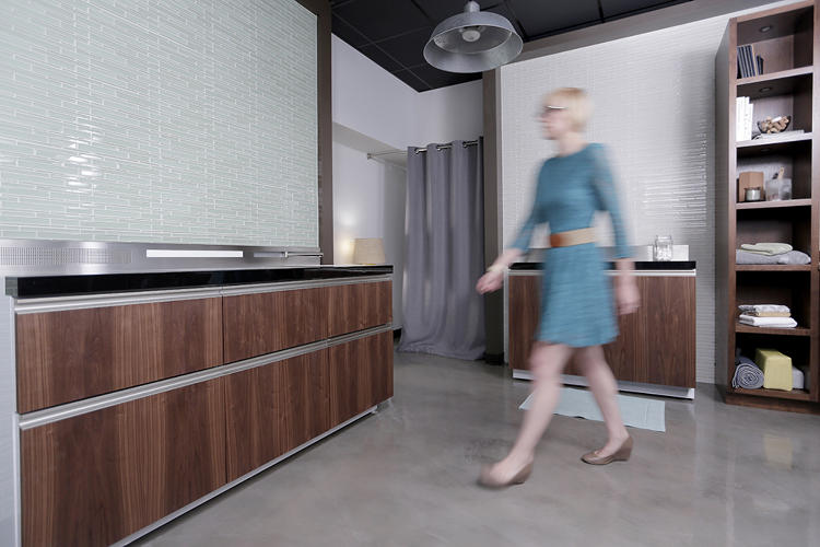 The GE Micro Kitchen uses 6ft of space. Photo courtesy of GE.