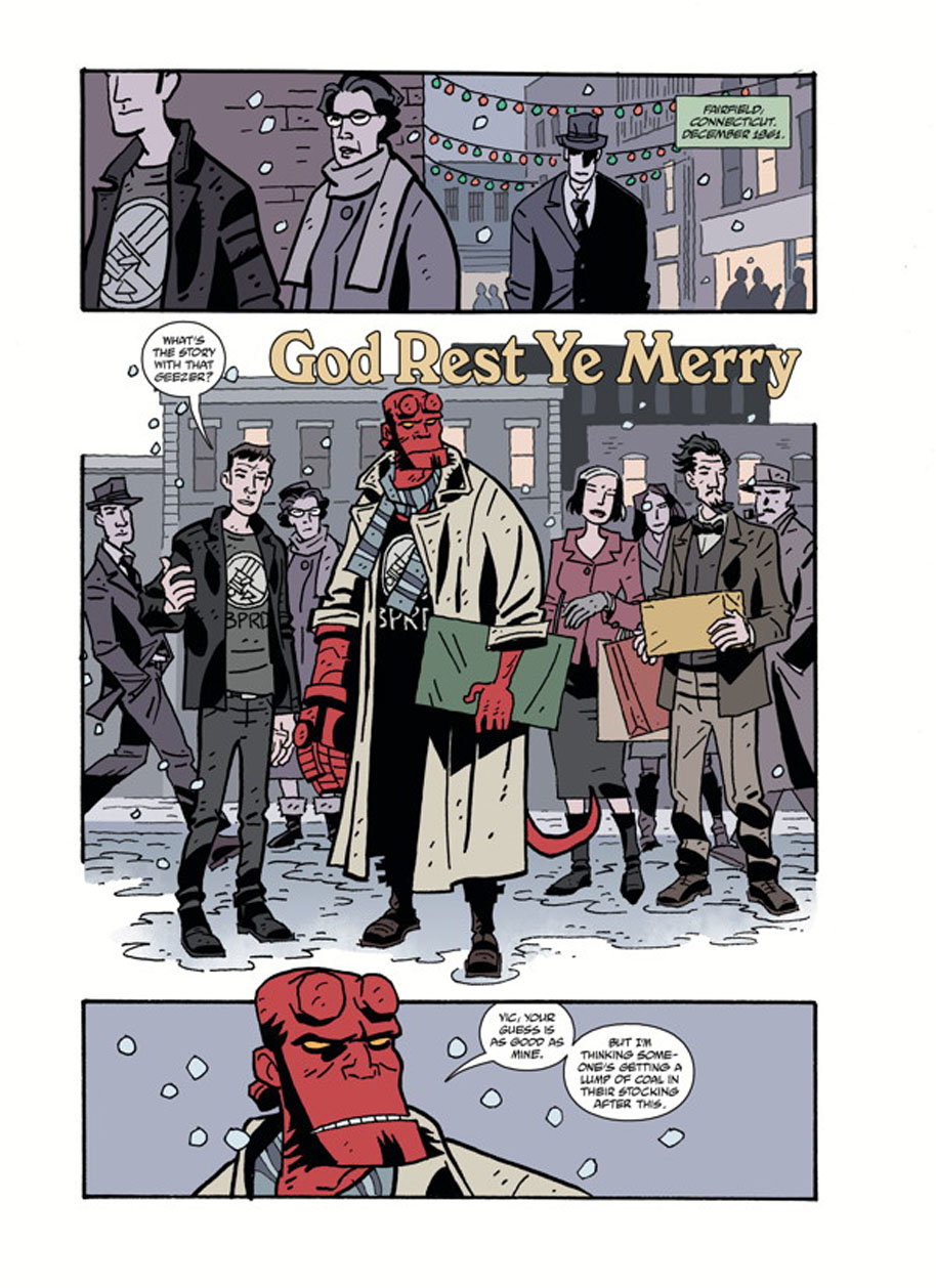 Hellboy Winter Special God Rest Ye page 1