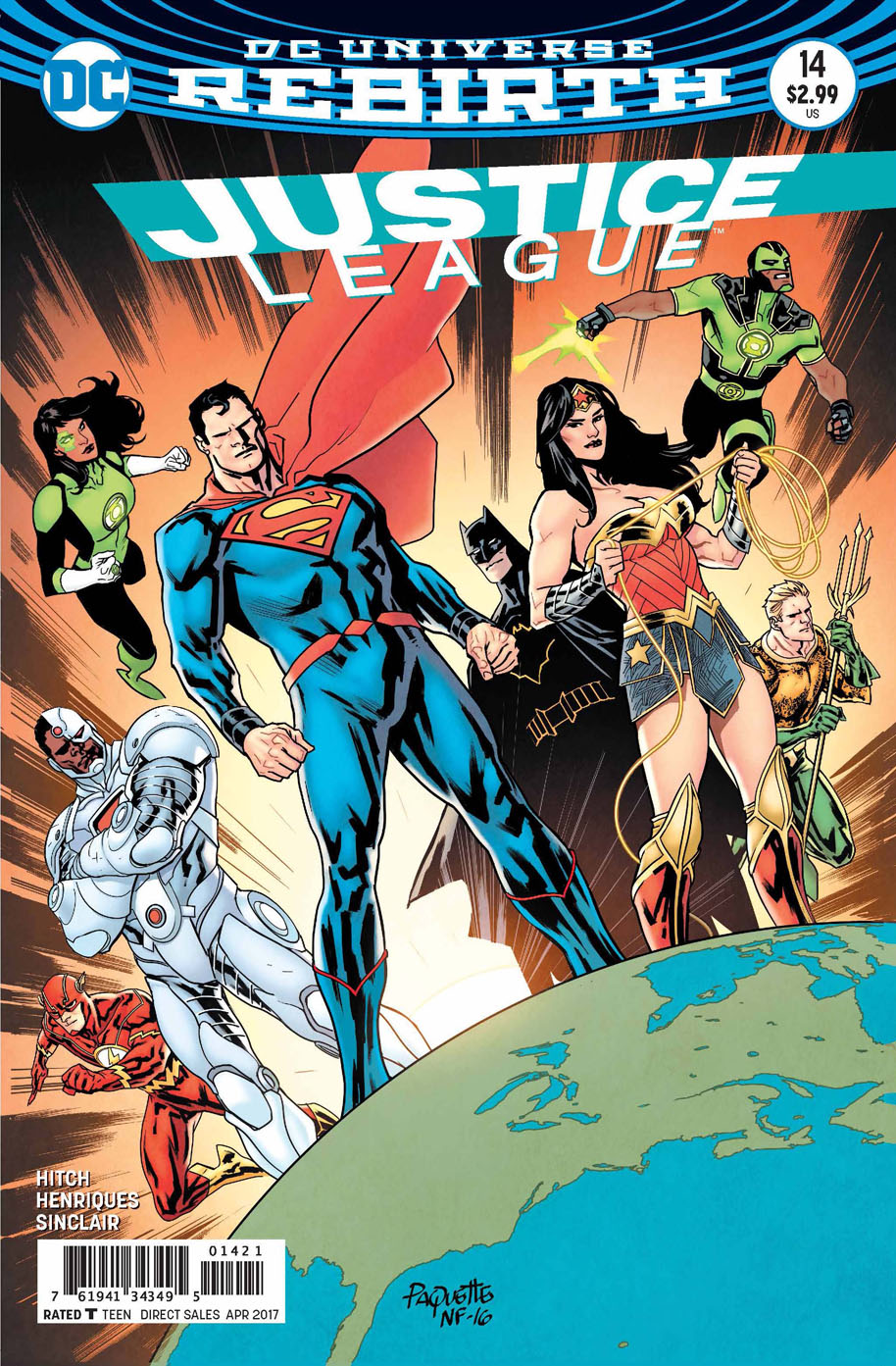 Justice League 14 open order variant