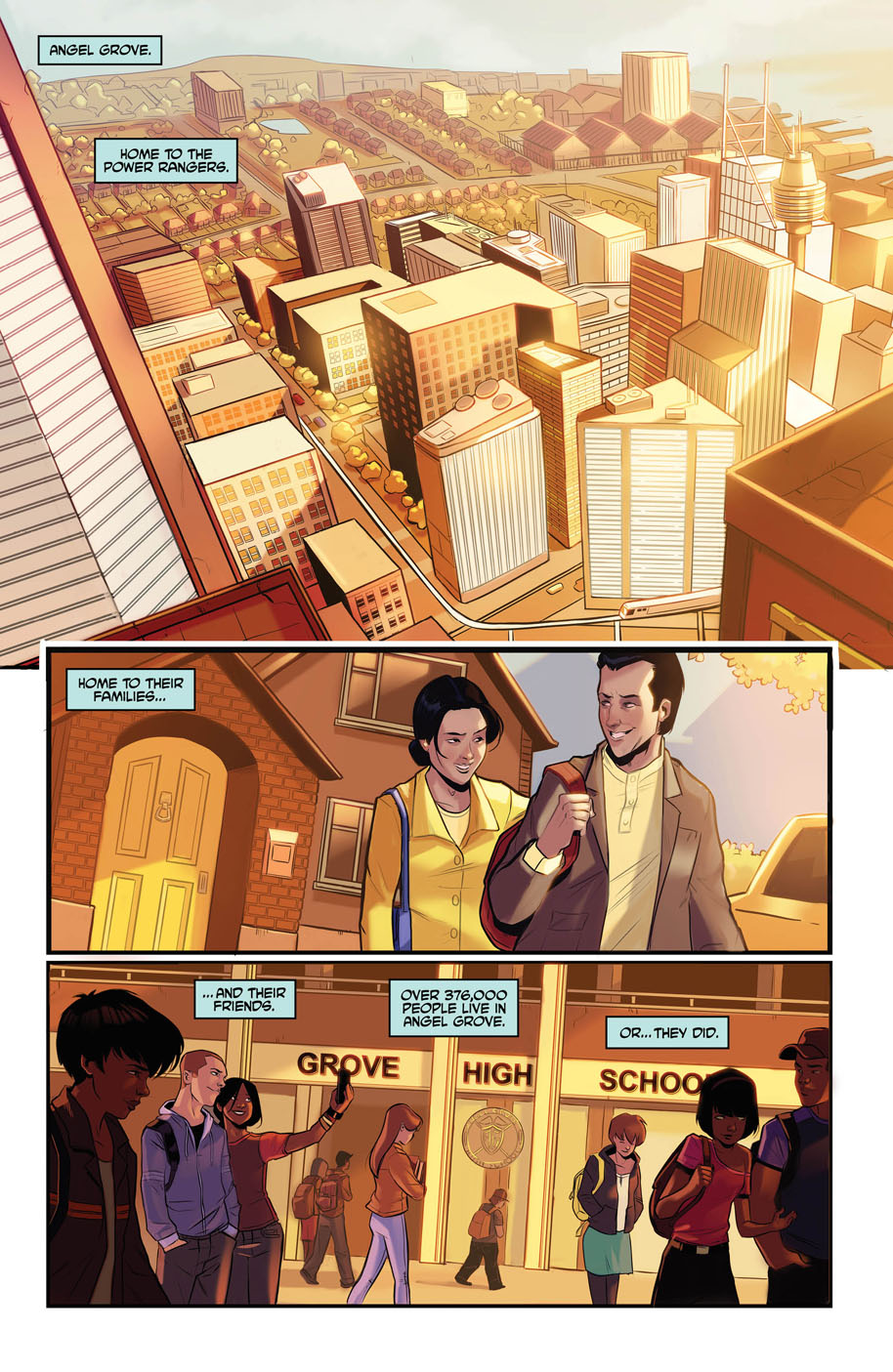 Justice League Power Rangers 1 page 1