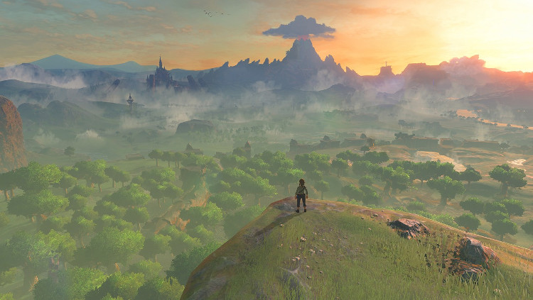 The Legend of Zelda: Breath of the Wild Map Size \