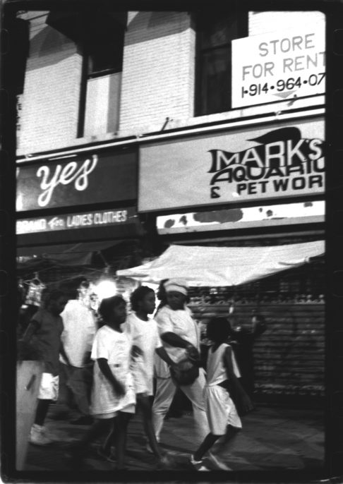 Ming Smith Yes, Harlem, NY, ca. 1985, Vintage gelatin silver print, printed ca. 1985, 10 x 8 in