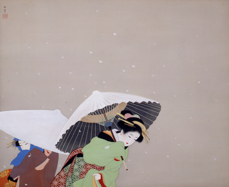 Uemura Shōen, Feathered Snow Color on Silk Shōwa Period, 1944, Yamatane Museum of Art