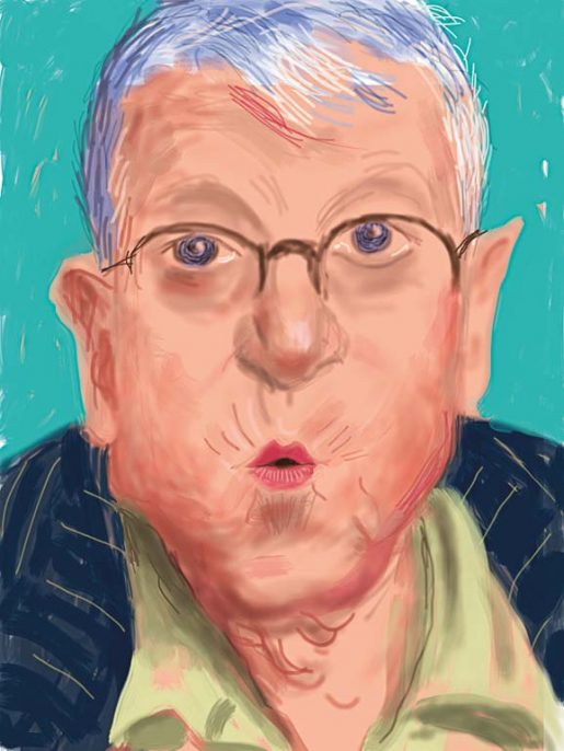 David Hockney. English 1937–. Self-portrait, 25 March 2012, No. 2 (1233). iPad drawing. From David Hockney: Current (Thames & Hudson, May 2017).