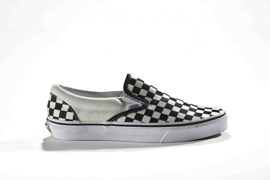 Vans Checkerboard Slip-On, 2014 retro of 1980s Collection of the Bata Shoe Museum, Gift of Vans. Photo: Ron Wood Courtesy American Federation of Arts/Bata Shoe Museum