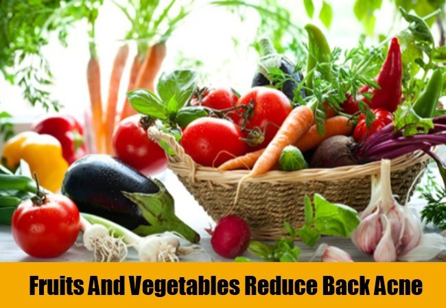 How to get rid of back acne with fruits and vegetables