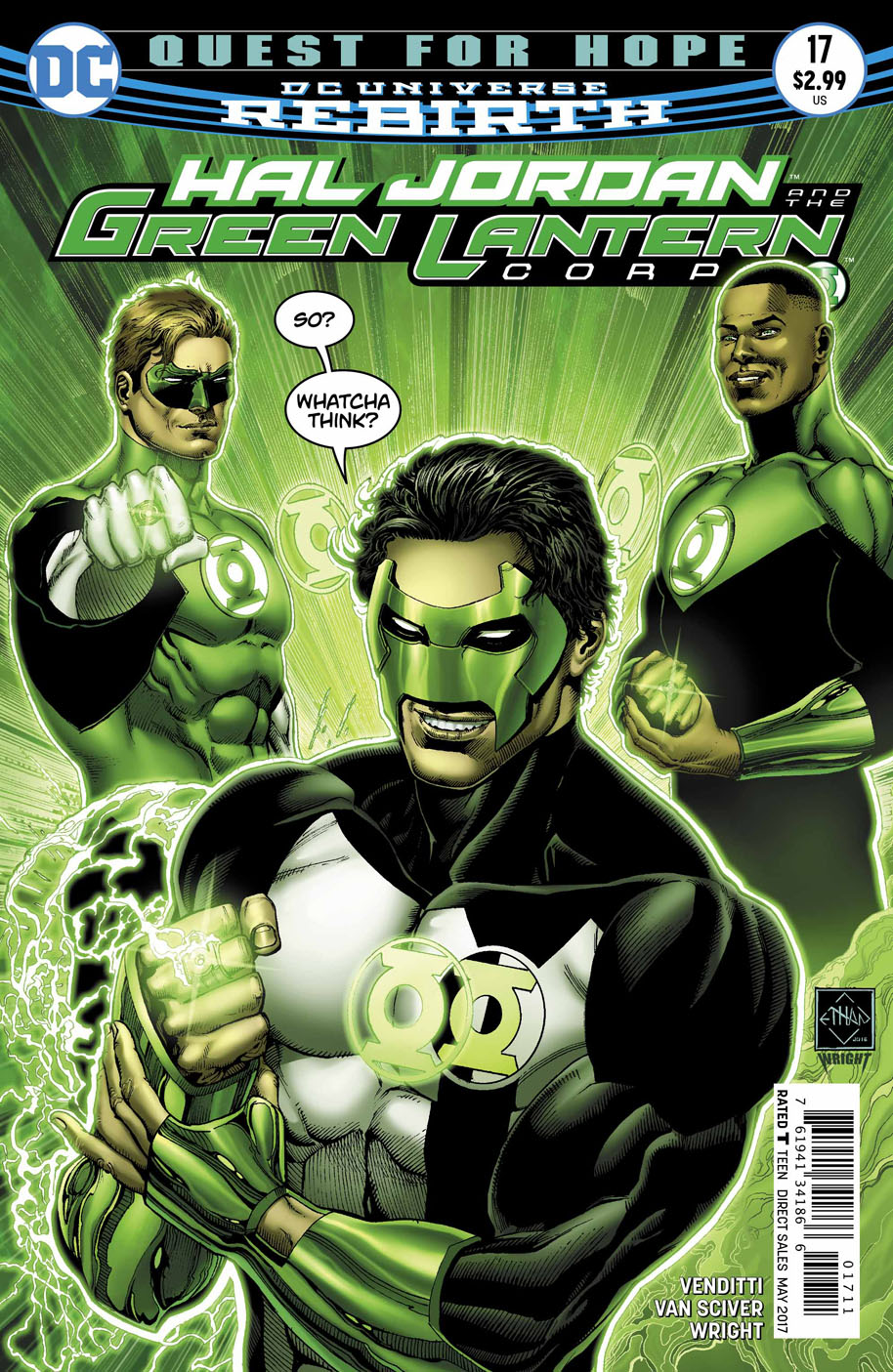 Hal Jordan and the Green Lantern Corps 17 cover