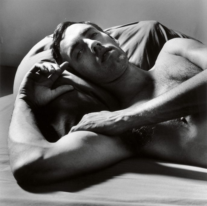 Peter Hujar, David Wojnarowcz Reclining (2), 1981; The Morgan Library & Museum, The Peter Hujar Collection. Purchased on the Charina Endowment Fund, 2013.108:1.28.