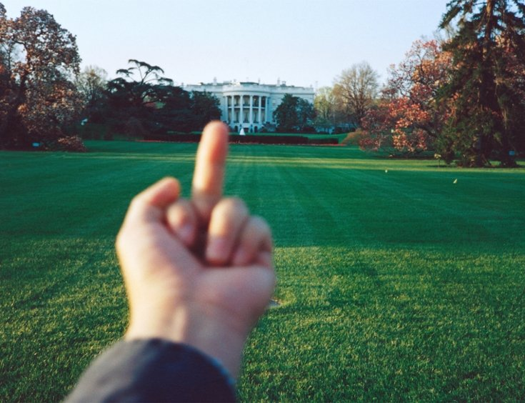 Ai Weiwei, Study of Perspective, 1995-2011, White House, Washington D.C., USA, 1995, color photograph.