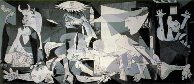 Pablo Picasso. Guernica, 1937.Oil on canvas, 137.4 x 305.5 inches. Courtesy of Wikipedia.