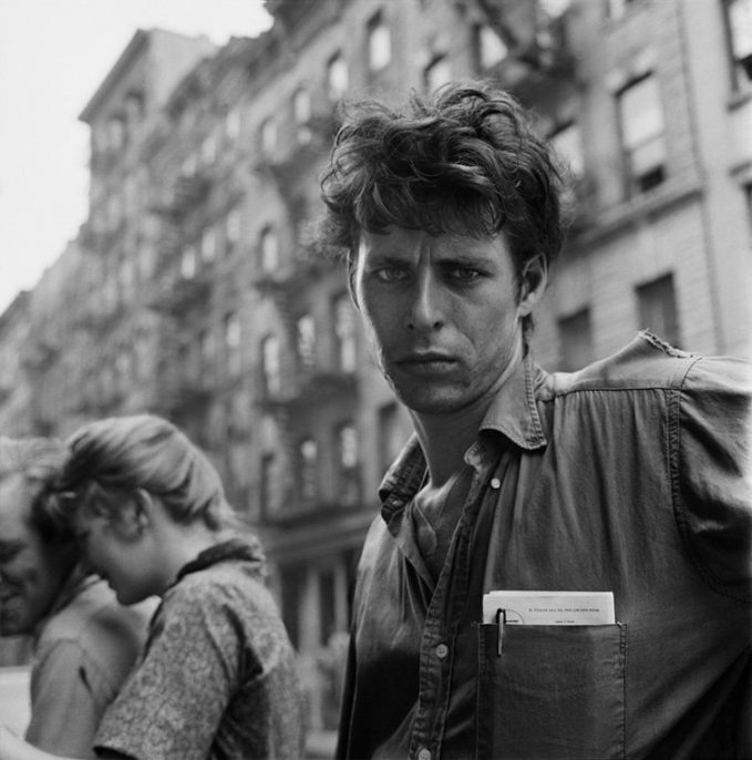 Turk LeClair, MacDougal Street, New York City, 1958, photo credit Larry Fink