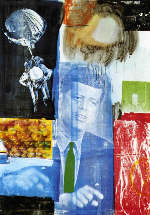 Robert Rauschenberg. Retroactive I. 1964. Oil and silk-screen-ink print on canvas. Wadsworth Atheneum Museum of Art, Hartford, Connecticut. Gift of Susan Morse Hilles. Photo: Allen Phillips/Wadsworth Atheneum © 2017 Robert Rauschenberg Foundation