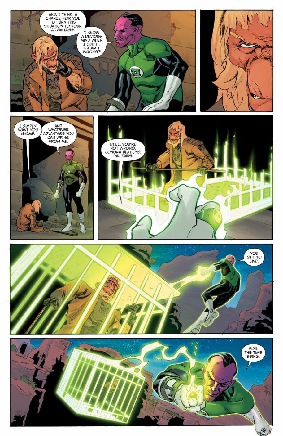 Planet of the Apes Green Lantern 5 page 5
