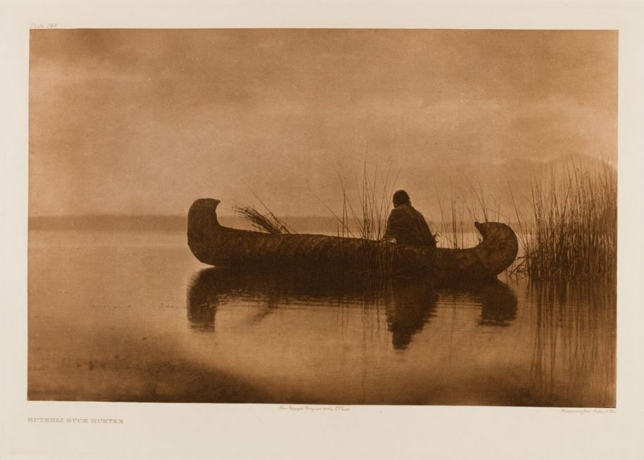 Edward Sherriff Curtis. The North American Indian. Portfolio 7, Plate 249. Kutenai Duck Hunter, 1910, Photogravure.