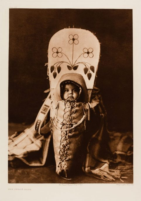 Edward Sherriff Curtis. The North American Indian. Portfolio 8, Plate 266. Nez Perce Babe, 1900, Photogravure.