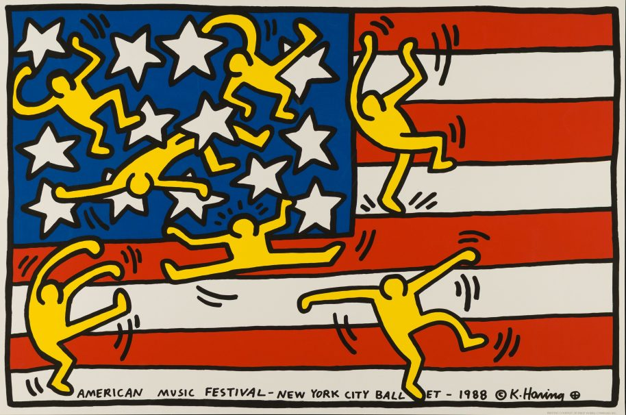 Keith Haring (1958-1990). American Music Festival – New York City Ballet, 1988. Silk-screen print. © Keith Haring Foundation.