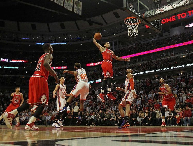 Derrick Rose's height and dunks