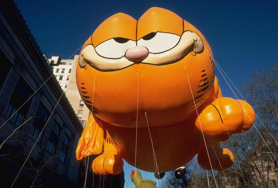 chubbs cat, garfield balloon