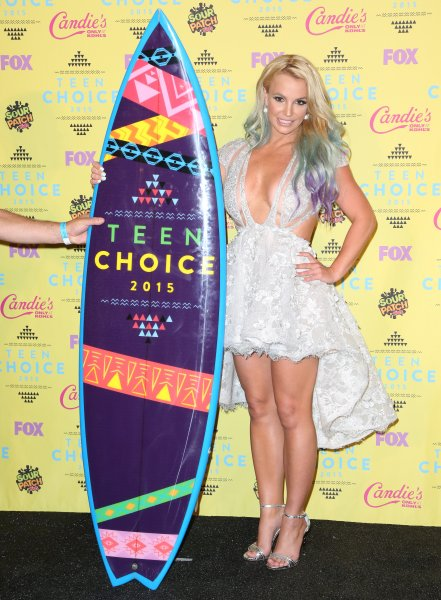 Celebrities attend Teen Choice Awards 2015 - Press Room at USC Galen Center. Featuring: Britney Spears Where: Los Angeles, California, United States When: 16 Aug 2015 Credit: Brian To/WENN.com