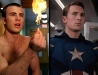 Chris Evans as The Human Torch and Captain America