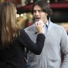 Ben Flajnik films an appearance for entertainment news programme 'Extra' at The Grove