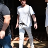 Brad Pitt out and about in New York wearing a white outfit and hat Featuring: Brad Pitt Where: Manhattan, New York, United States When: 20 Jul 2016 Credit: TNYF/WENN.com