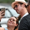 Brad Pitt poses for selfies with fans while out and about in Manhattan Featuring: Brad Pitt Where: Manhattan, New York, United States When: 20 Jul 2016 Credit: TNYF/WENN.com