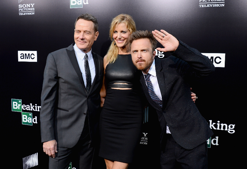 """Actors Bryan Cranston, Anna Gunn and Aaron Paul arrive as AMC Celebrates the final episodes of """"Breaking Bad"""" at Sony Pictures Studios"""