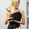 Actress Anna Gunn poses in the press room at the 65th annual Primetime Emmy Awards at Nokia Theatre
