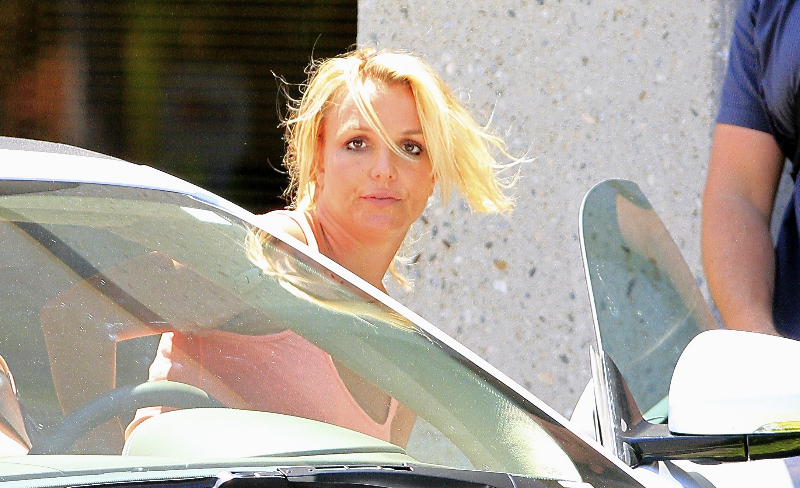 Britney Spears is working hard to keep herself in shape, as she's spotted coming out of a dance studio