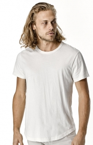 White V-Neck Slub Tee by Buck Mason