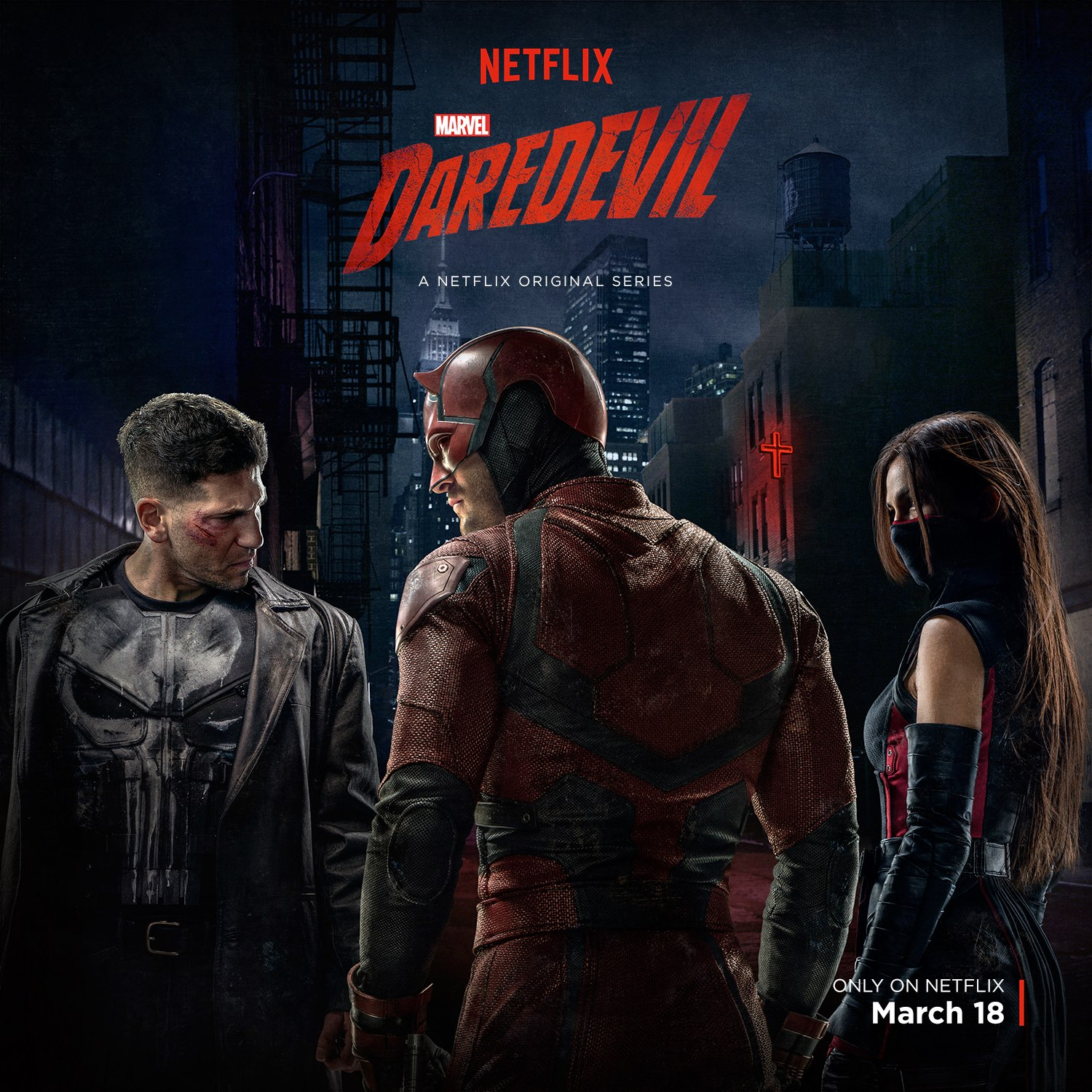 Daredevil, the Punisher, and Elektra