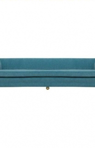 Low Mid-Century Sofa with Rounded Back