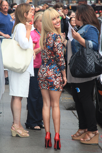 Celebrities outside the Ed Sullivan Theater for 'The Late Show with David Letterman'